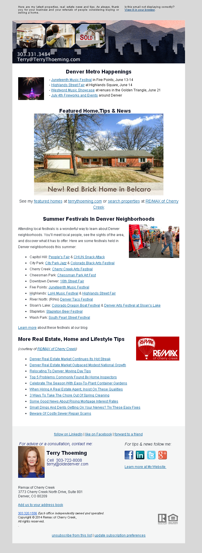New listing + Summer Festivals In Denver Neighborhoods